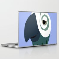 parrot Laptop & iPad Skins featuring Parrot  by Jessica Slater Design & Illustration