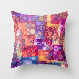 Harlequin Bubbles Throw Pillow
