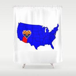 State of Arizona Shower Curtain