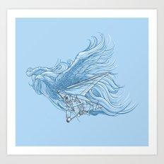 gliding on the wind Art Print