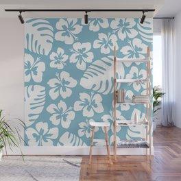 Powder Blue Tropical Breeze Wall Mural