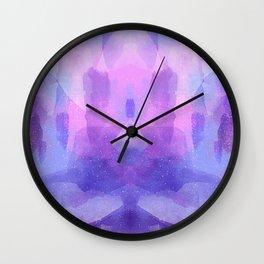 Purple Amethyst Wall Clock