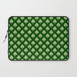 Shamrock Clover Polka dots St. Patrick's Day green pattern Laptop Sleeve