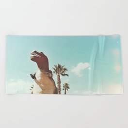 dino daze Beach Towel