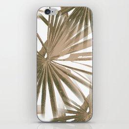 Brown on White Tropical Vibes Beach Palmtree Vector iPhone Skin