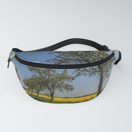 Spring landscape - a trail in the rapeseed Fanny Pack