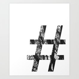 Minimal Number Sign Print With Photography Background Art Print