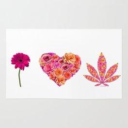 i Heart Pot Leaf Rug