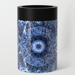 Iris Mandala Blue Can Cooler