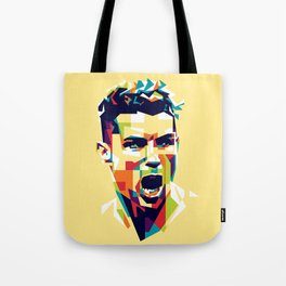 colorful illustration of ronaldo Tote Bag