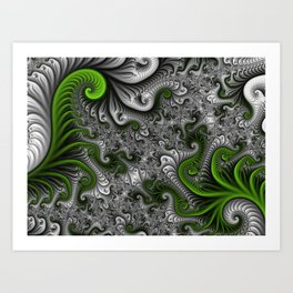 Fantasy World, abstract Fractal Art Art Print