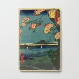 Ukiyo-e, The Grove at the Suijin Shrine Metal Print
