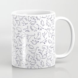 Dinosaurs Outline Pattern Coffee Mug