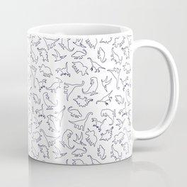 Dinosaurs Outline Pattern Coffee Mug