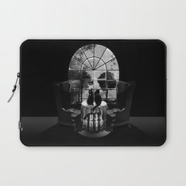 Room Skull B&W Laptop Sleeve