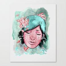 Broken Up Over Crystals Canvas Print