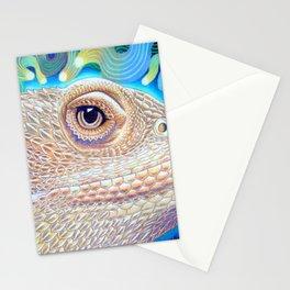 Dragon Star, Bearded Dragon Lizard Art Stationery Cards