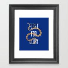 FIGHT FOR GLORY Framed Art Print