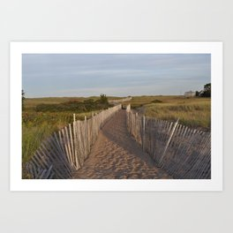Walkway to the South Jetty Art Print