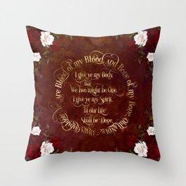Outlander Wedding Vows Throw Pillow