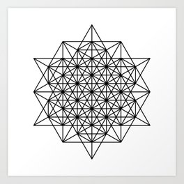 Star tetrahedron, sacred geometry, void theory Art Print
