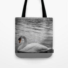 Swan in the Serpentine at Hyde Park Tote Bag