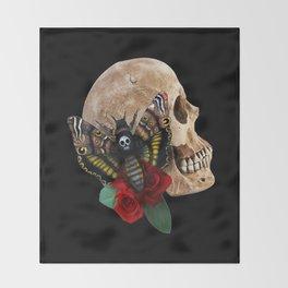 Death's Head Throw Blanket