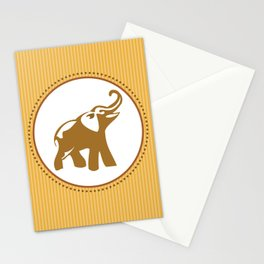 Elephant Print Stationery Cards