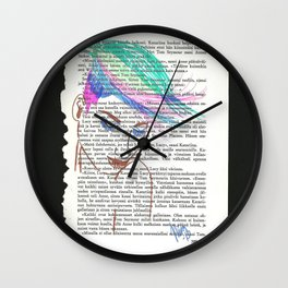 Parrot Hair Black Background Wall Clock