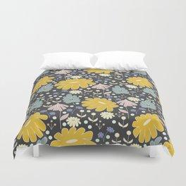 Ramona: a Modern Floral Pattern Duvet Cover
