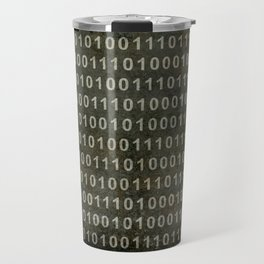The Binary Code - Distressed textured version Travel Mug