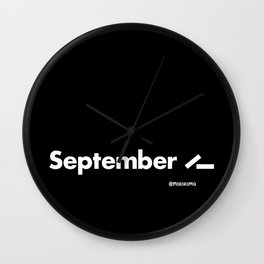 September 11 (2001) - Black Wall Clock