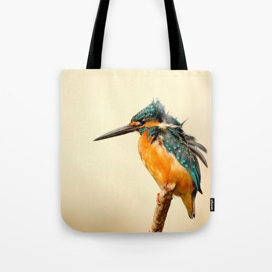 Kingfisher Bird Tote Bag