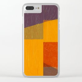 Purple Wedge with Orange Clear iPhone Case