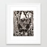 gnome Framed Art Prints featuring Gnome by Aubree Eisenwinter