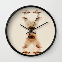 lonely Wall Clocks featuring lonely by chazstity