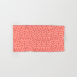 Decorative Leaves in Coral and Pink Hand & Bath Towel
