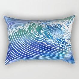 Atlantic Waves Rectangular Pillow