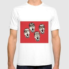 Kiss Cage White MEDIUM Mens Fitted Tee