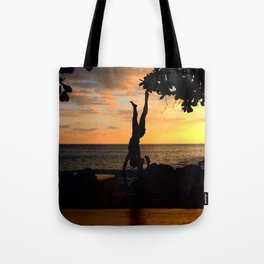 The Falling Tree Tote Bag