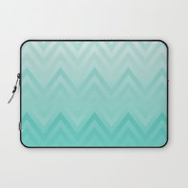 Fading Teal Chevron Laptop Sleeve