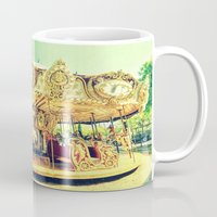 carousel Mugs featuring Carousel Merry-G0-Round by Whimsy Romance & Fun