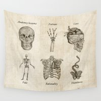 anatomy Wall Tapestries featuring Anatomy lessons by Sara Elan Donati