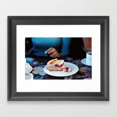 Coffee and Cake Framed Art Print