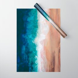 Watercolour Summer Beach IV Wrapping Paper