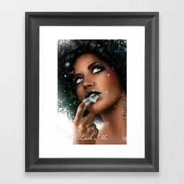 LICK ME - Black Framed Art Print