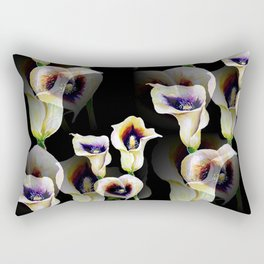 Arum Calla Lilies Pattern in Watercolor Rectangular Pillow