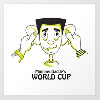 world cup Art Prints featuring Mummy Daddy's World cup by Jyoti Khetan