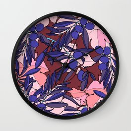 Pink Olives Wall Clock
