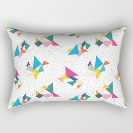 Deconstructed Tangrams Rectangular Pillow